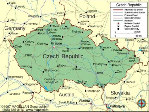 czechoslovakia map republic information and facts