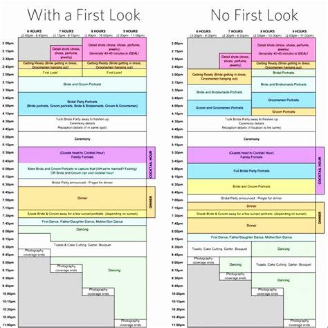 wedding schedule template excel 6 wedding day schedule template excel exceltemplates