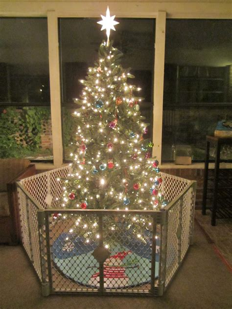christmas tree gate keeping a clean and organized home at the holidays carrie with children