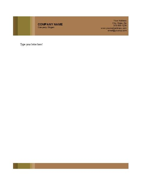 personal business letterhead template free printable business letterhead templates best