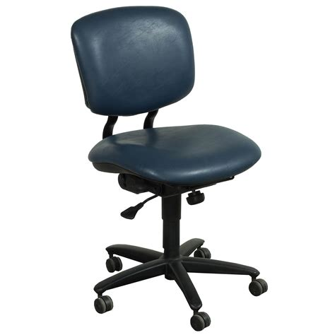 Leather Task Chair haworth improv used armless leather task chair blue