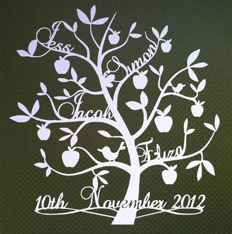 Paper Cut Tree Template family tree template free unique family tree template