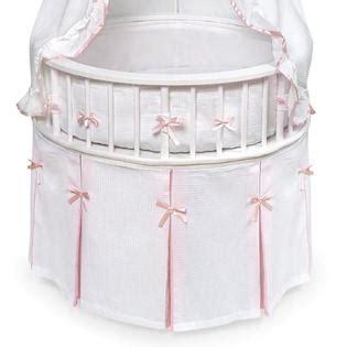 round bassinet bedding badger basket 00836 elegance round bassinet white pink