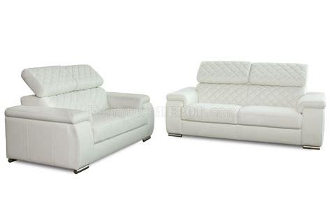 modern white leather loveseat white bonded leather modern coco sofa loveseat 2pc set