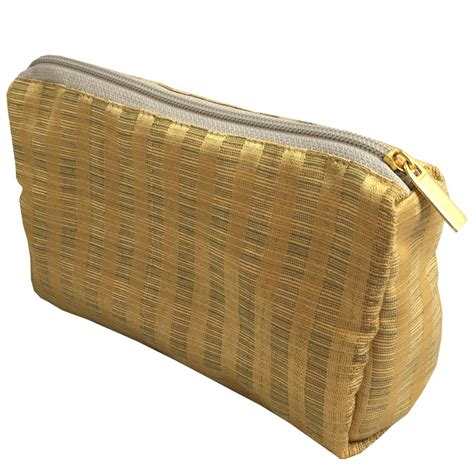 Golden Bag golden silk bag for cosmetics promotional occassion