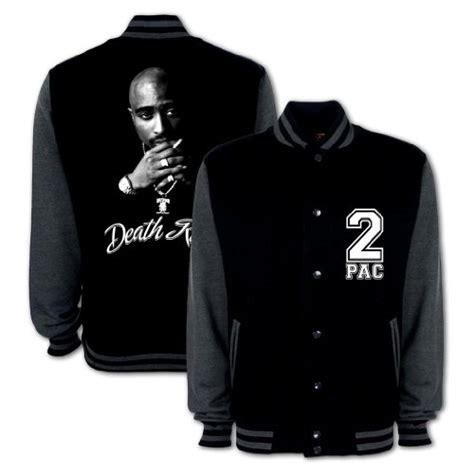 Kaos Row Records Black Y tupac row varsity college jacket black grey m