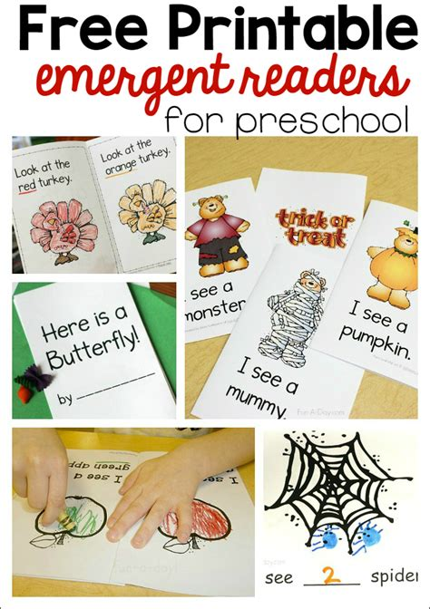 printable toddler books printable emergent readers for preschool the measured mom