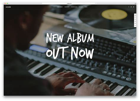 23 Of The Best Wordpress Themes For Musicians 2018 Colorlib Best Templates For Musicians