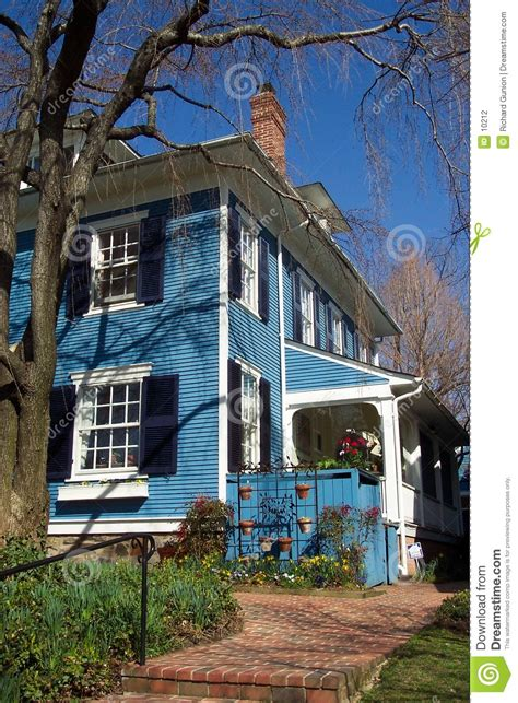 Blue Cottage by Blue Cottage Stock Photography Image 10212
