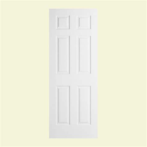 Jeld Wen 28 In X 78 In Woodgrain 6 Panel Solid Core 28 X 78 Interior Door