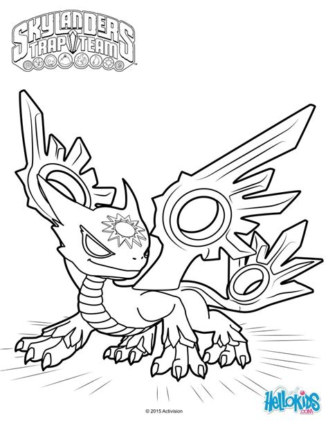 skylanders dragons coloring pages spotlight the white dragon coloring page from skylanders