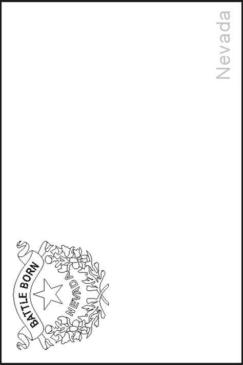 nevada state flag coloring pages usa for kids