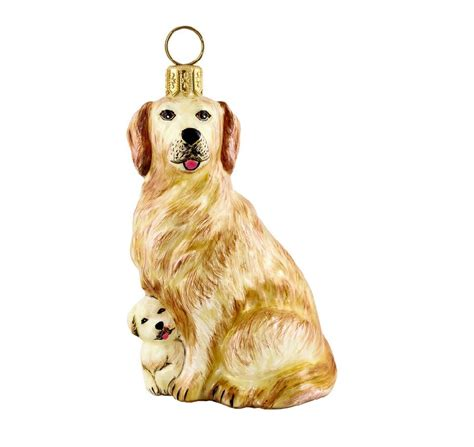 golden retriever puppy ornament golden retriever and puppy blown glass ornament ebay