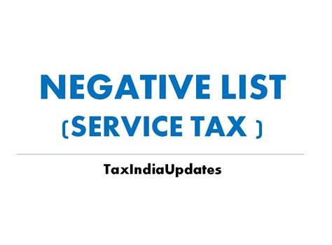 service tax sections list service tax negative list amended by finance bill 2017