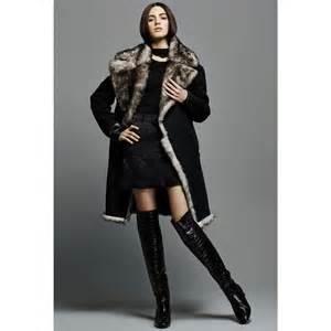tom ford fur lined wool coat in black lyst