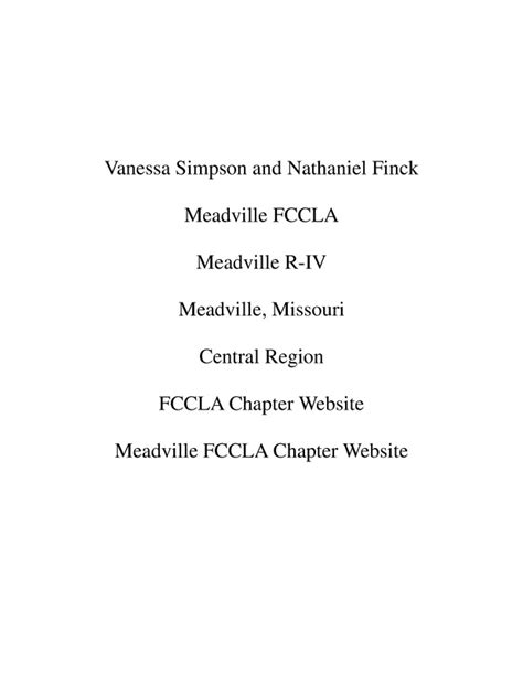fccla planning process template fccla risco woods cross fccla fccla planning process