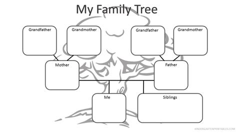 family tree template for kindergarten kindergarten family worksheets worksheets the