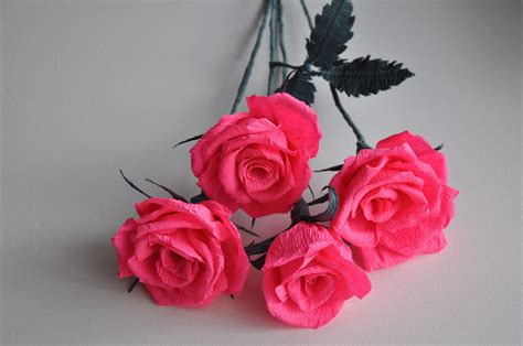 How Make Paper Roses - crepe paper step by step diy