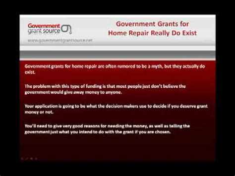 government grants for home repair they really do exist