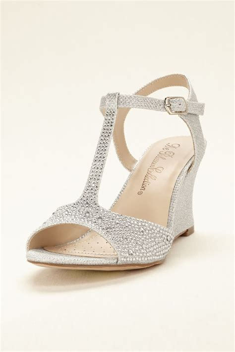 Silver Wedge Wedding Shoes by 25 Best Ideas About Wedge Wedding Shoes On