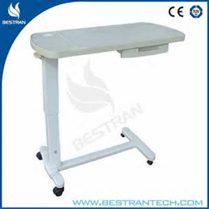 bt at009 adjustable table hospital bed tray table
