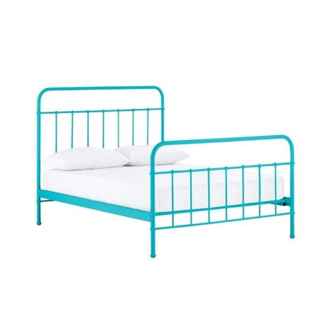king single metal bed frame in blue buy king