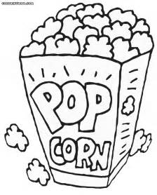 popcorn coloring pages coloring pages download print