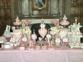 Sweet Buffet Table Wedding Candy Buffet In Vintage Pink Candy Buffets L