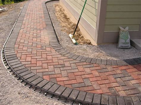 Paver Patio Edging Paver Walkway Edging