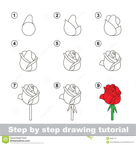sketch to vector tutorial rose flower drawing step step drawing of sketch