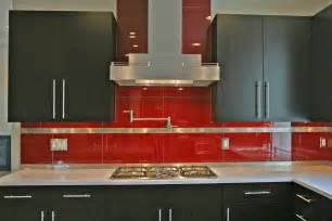 Red Kitchen Backsplash Tiles Interesting Biscuit Subway Tile Backsplash And Copper