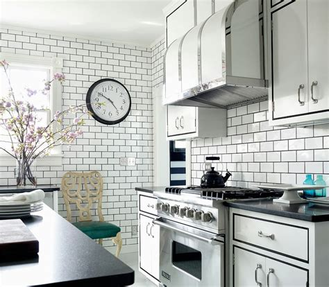 black subway tile kitchen backsplash white subway tile kitchen backsplash