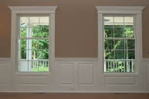 Chair Rail Molding Pictures - integrate window and door trim with wainscoting panels