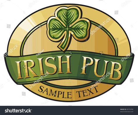 label design ireland irish pub label design stock vector 99776789 shutterstock