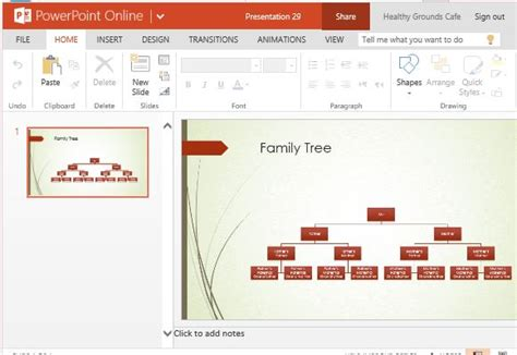 Family Tree Chart Maker Template For Powerpoint Online Genealogy Powerpoint Template