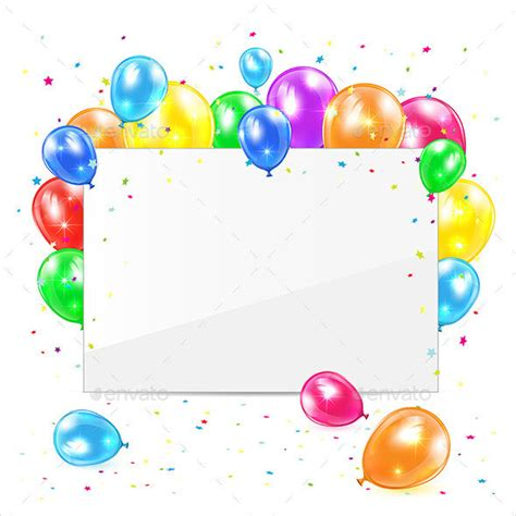 balloon card template 60 card designs free premium templates