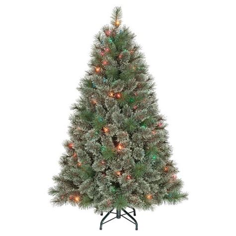 4 5 ft pre lit virginia pine artificial christm target