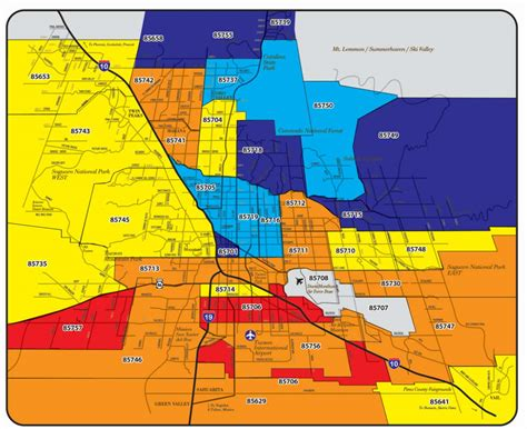printable zip code map of tucson az popular 203 list zip code map tucson