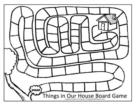 make a house game make your own board game printable bphotoart things in our house game printable w