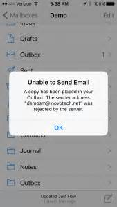 Office 365 Outlook Unable To Send Email Inovotech Innovative Technology Solutions For A Modern World