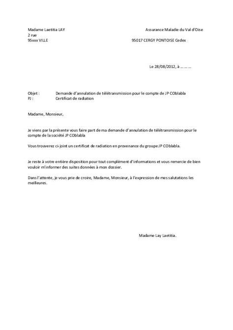 Exemple De Lettre Securite Sociale lettre changement adresse cpam