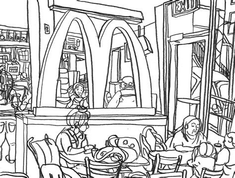 Mcdonalds Coloring Pages mcdonald