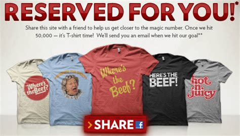 Free T Shirt Giveaway - wendy s where s the beef t shirt giveaway victoria tx deals