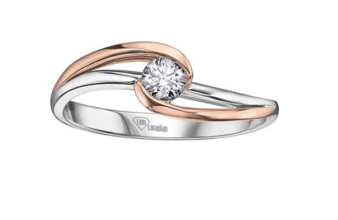engagement ring with gold and white gold engagement