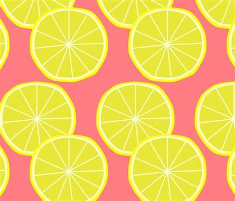 pin up pattern fabric pink lemonade party lemon fabric by slkanitz on