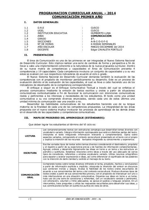 programacion curricular anual minedu 2016 ppt comunicacion programaci 243 n anual 1 186 2014 con rutas de