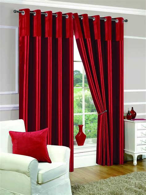 red and cream curtains with eyelets eyelet fully lined ready made curtains ring top pair white