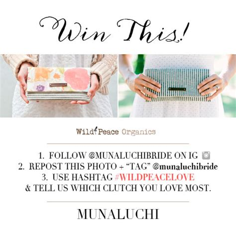 How To Win Instagram Giveaways - tgim giveaway win a clutch from wild peace organics