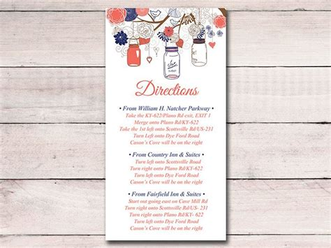 direction cards template free 17 best ideas about wedding direction cards on