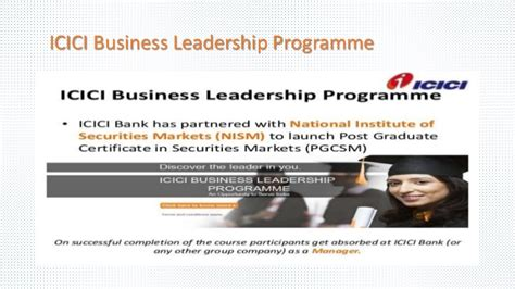 Icici Business Leadership Programme Mba by Icici Hr Policies